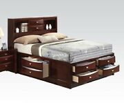 Multi-drawer Espresso Bed Eastern King Size Ireland Home 1pc Bedroom Furniture