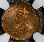 British India 1932 C 1/12 Anna Ngc Ms65rb Calcutta Mint Ng0405 Combine Shipping