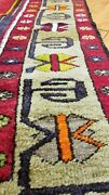 Authentic 1930-1940s Antique Natural Dyes 4and0397andtimes8and0395 Wool Pile Tribal Prayer Rug