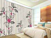 Less Flower Much Leaves 3d Curtain Blockout Photo Printing Curtains Drape Fabric