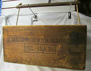 Antique American Cyanamid And Chemical Corp - Explosive Dovetail Box With Handle