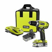 Ryobi One+ Compact Lithium-ion 18v Drill Kit W/ Charger And 2 Battery1yrwarranty