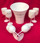 Ice Imperial Moet Chandon Ice Bucket + 6 Ice Flutes New