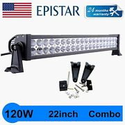 22inch 120w Led Light Flood Spot Combo Boat Truck Ford Offroad 4x4wd Pk 20/24and039and039