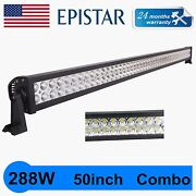 50inch 288w Led Work Light Car Truck Offroad Suv Boat 4x4 Driving Truck 52and039and039