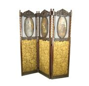 Antique Room Divider, Privacy Screen, Vintage Partition, England 1890,b999