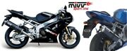 Mivv Exhaust Kawasaki Zx-6 Rr Year Bj.03-04 Oval Stainless Steel Motorcycle