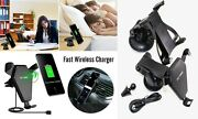 2-in-1 Combo Deals Qi Wireless Car Fast Charger Phone Holder + Car Tablet Mount