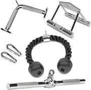 A2zcare Cable Attachments Double D Handle Tricep Rope Rotating Bar V Shaped