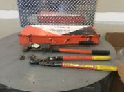 Ratcheting Crimper Thomas And Betts Tbm5-s364rf Cutters Combo Kit With Case