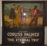 Huge Antique Art Deco Movie Poster - Corliss Palmer The Eternal Two Inv 470
