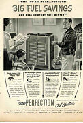 1948 Print Ad Of Perfection Stove Co. Oil Heater