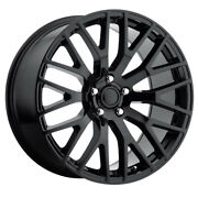 Replica By Voxx Mustang Performance 20x8.5 5x114.3 Et35 Gloss Black Qty Of 4