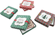 Christmas Gift Card Holder Boxes With Ribbon And Foil Set Of 4