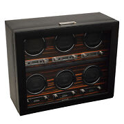 Wolf Design 2.7 Roadster Six Piece Automatic Watch Winder For 6 Watches Box
