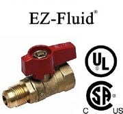Pack 10pcs 1/2andrdquoflare X 1/2andrdquoips Brass Gas Shut Off Ball Valve Natural Gas Propane