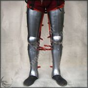 Medieval Knight Fully Functional Leg Plate Armor Crusader Steel Leg Reproduction