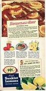 1953 Print Ad Of Sunkist Lemons California Style Barbecued Ribs Recipe