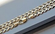10k Solid Gold 9mm Men Women Cuban Link Chain Size 20 - 36and039 Free Shipping