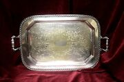 Vintage Sheet Rockford Co Silver-plated Butlerand039s Tray
