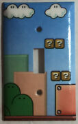 Super Mario Game Background Light Switch Outlet Wall Cover Plate Home Decor