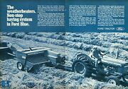 1970 3 Page Print Ad Of Ford Blue 542 Baler4000 9000 And 140 Lgt Farm Tractor