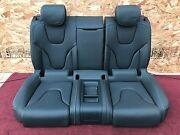 Audi A5 S5 Rs5 Coupe 8t Rear Leather Seat Set Black With White Stitches Oem