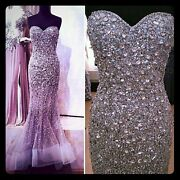 Sold Out Wowheavily Embellished Crystal Prom Terani Dress Nwts Must See