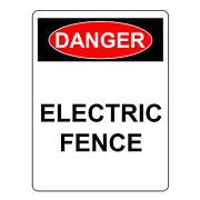 Danger Electric Fence Sign Aluminum Metal Health And Safety Warning Uv Signs