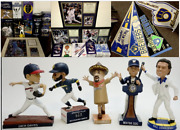 Lot Of 41 Milwaukee Brewers Bobblehead Pennant Braun Yount Gantner Uecker