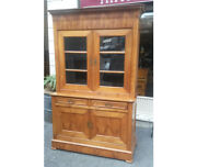 Sideboard With Riser In Cherry Wood In Capuccino Style. Period 1850