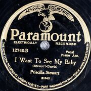 Priscilla Stewart I Want To See My Baby Paramount 12740 Race Blues 78 Hear