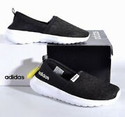 Adidas Womenand039s Cloudfoam Lite Racer Slip-on Running Shoes - Black New