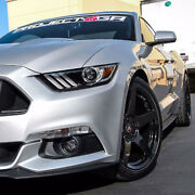 Project 6gr Five 20x10 Gloss Black Concave Wheels For S550 Mustang Gt Pp Eco