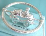 And Co. Sterling Silver Race Car Spin In An Axle Baby Teether Rattle Ring