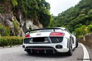 2008-2015 Audi R8 Dp Style Rear Bumper W/ Carbon Fiber Diffuser And Exhaust Tips