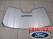 15 Thru 20 F-150 Oem Ford Sun Shade Screen With F-150 Logo And Storage Bag New