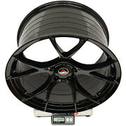 Project 6gr Ten 20x10/11 Gloss Black Concave Wheels For S197 Mustang Gt V6