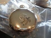 Mark And Graham English Pewter Flask Round Circle Monogrammed Afb New Wo Tag