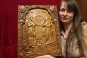 Icon Saint Peter And Paul . 3d Art Orthodox Wooden Carved Picture. 18 Size.