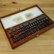 Brown And Sharpe 88 Piece Square Gage Block Set, .050 To 4.000 - Used