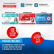 10 Custom Printed Plastic Id Cards • Your Design In Full Colour • Low Prices