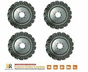 Skids Steer Loader Solid Tires X 4 Made For No Flat 10x16.5 Terex Volvo 31x10-20