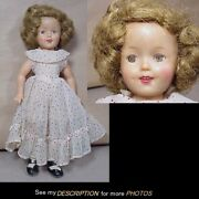1950s Original 12 Ideal Shirley Temple Vinyl Doll Tagged Clothes