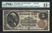 5 1882 Brown Back Murchison National Bank Of Wilmington North Carolina Ch 5182