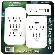 1600024 Charging Essentials Home And Travel Combo Charging Set Surge Protected,