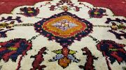 Exquisite Vintage 1950-1960and039s Vegy Dye Wool Pile Tribal Area Rug 5x8ft
