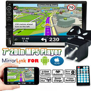 Double 2din Car Stereo With Backup Camera Bluetooth Radio 7 Mirror Link For Gps
