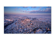 Metal Print Signed Photograph A Golden Dawn After The Snowstorm By Kostas Gur