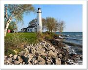 Pointe Aux Barques Lighthouse, Built Art Print Home Decor Wall Art Poster - F